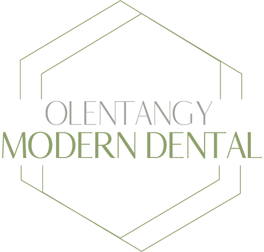 Olentangy Modern Dental scroll logo