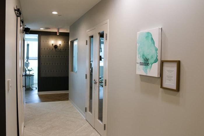 Hallway inside Olentangy Modern Dental
