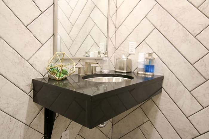Olentangy Modern Dental sink for patients to brush their teeth