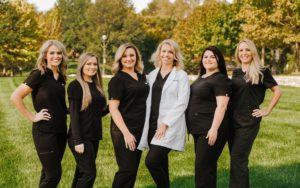 Dr. Gavin and her dental team outside